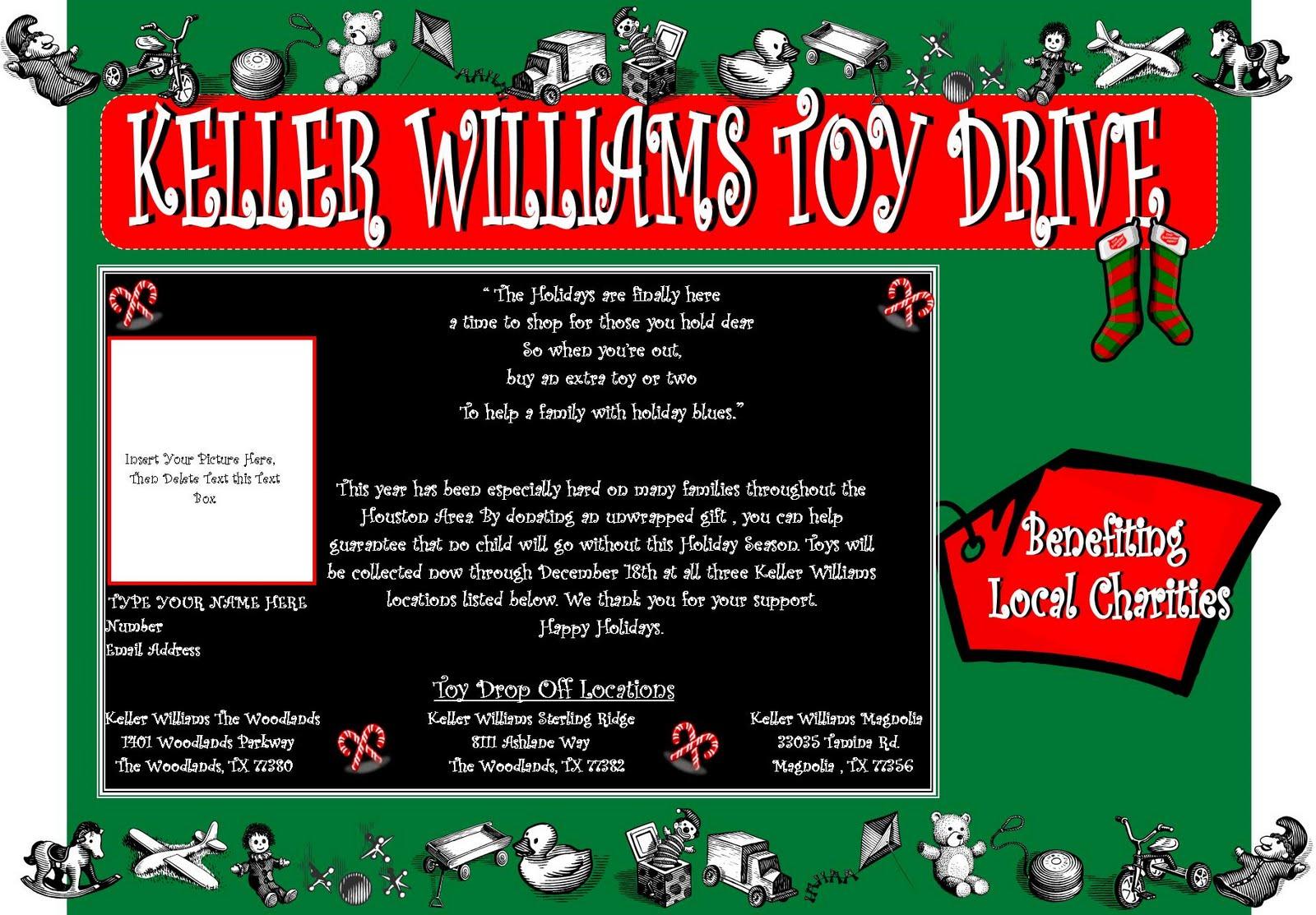 keller williams newsletter christmas toy drive mailout christmas toy drive mailout