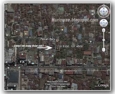 lacak google earth ip address