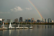 A rainbow over Boston