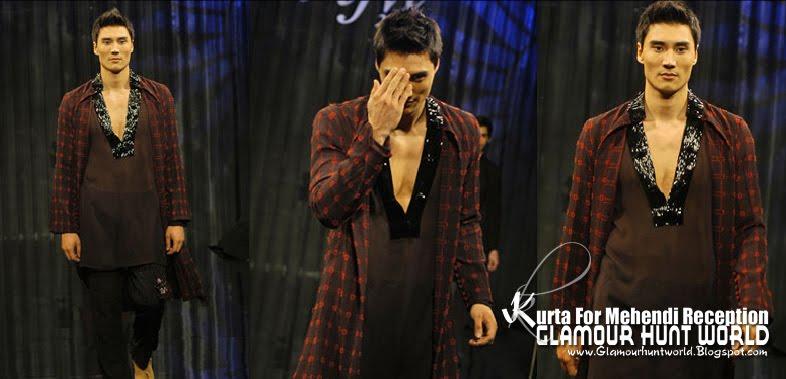 KurtaCollectionForMehendiReception 04 wwwGlamourhuntworldBlogspotcom - Dashing Men's Wear