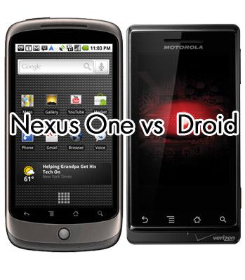 Nexus One versus Droid