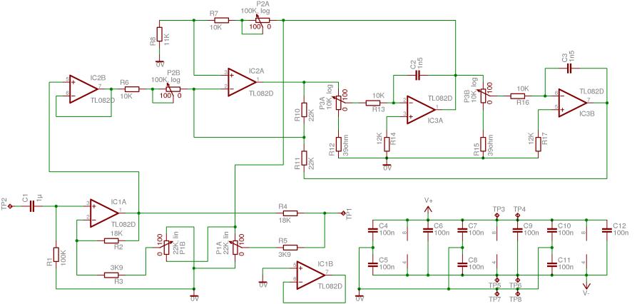 pcb parametric audio equalizer rh elektroniki blogspot com