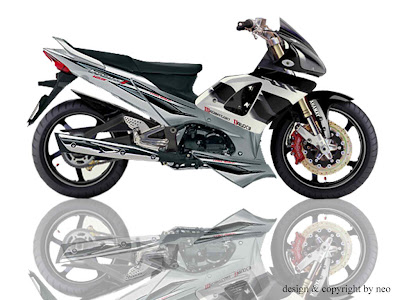 Modifikasi  Velg on Modified Supra Honda 125 X   Chromed And Cw Velg