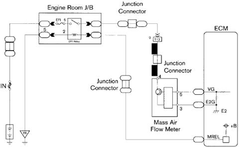 sensor mass air flow maf electro circuit schema datasheet