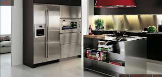 Stainless steel kitchen design cabinet