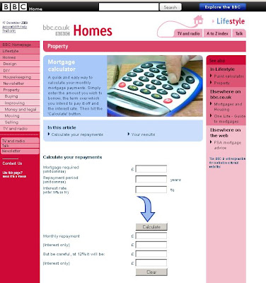 BBC Mortgage Calculator - BBC.co.uk Property mortgage calculator