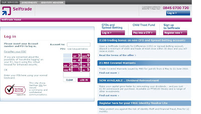 SelfTrade: Login to www.SelfTrade.co.uk for online Share dealing accounts