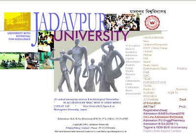 Jadavpur University Admission 2010 Online Application
