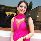 Aksha in Pink Churidar Cute Photos