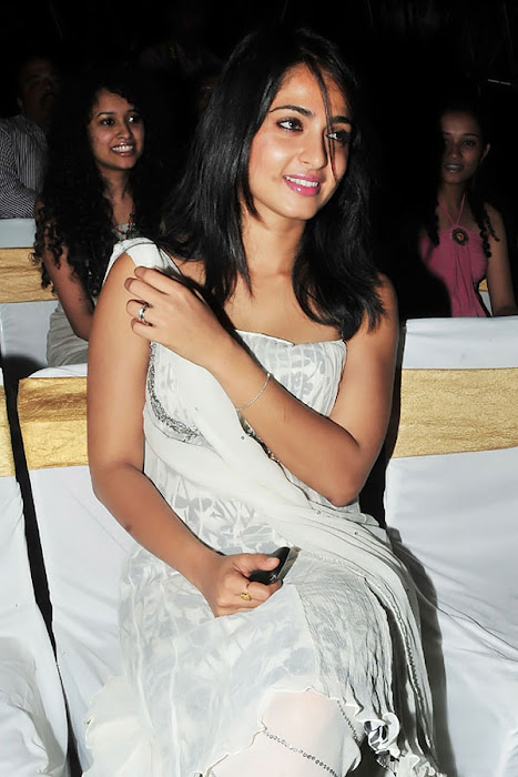 anushka in vedam audio released movies vedam audio premier anushka sharma in white dress looking pretty photo gallery