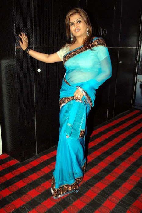 sona heiden in blue saree sona collection actress pics
