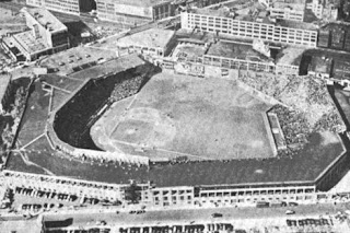 Black and White Photo of Historic Stadium
