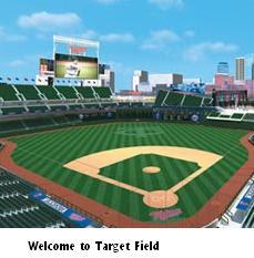 Postcard of Target Field