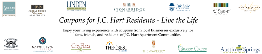 Coupons for J.C. Hart Residents - Live the Life