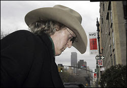 Radio and television talk show pioneer Don Imus walks head down, humiliated these days