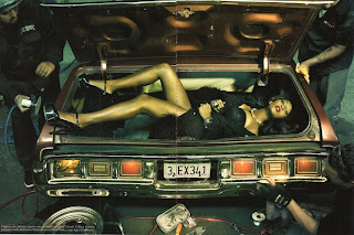 Italian Vogue magazine's Black Model issue in July features Tocara in a trunk.