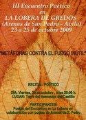 III Encuentro Poetico en La Lobera de Gredos