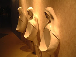 Nun urinals, makes it hard to piss