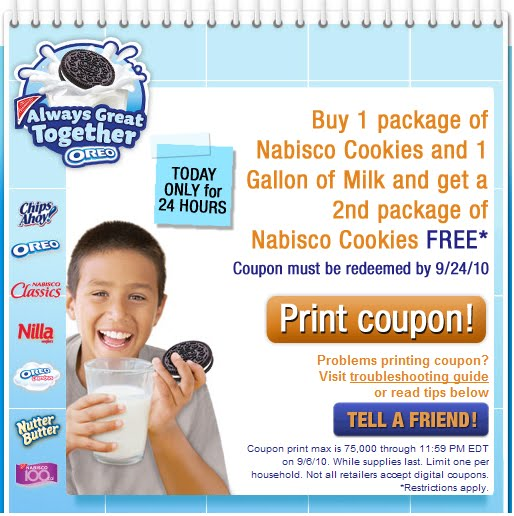 picture about Oreo Printable Coupons called Nabisco cookies printable discount codes 2018 - On the internet foods coupon codes united kingdom