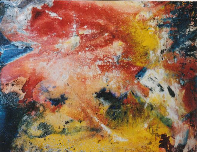 Abstrait (jaune rouge bleu)