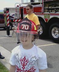 Austin being a fireman!