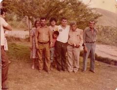 Familiares y parientes de La Laguna (aproximadamente en 1981).