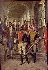 Simón Bolívar y Francisco de Paula Santander: