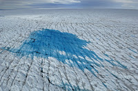 Surface of Greenland melting