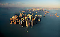 NYC under water, 22nd century. Blind faith in technology created this mess; it won't solve it.