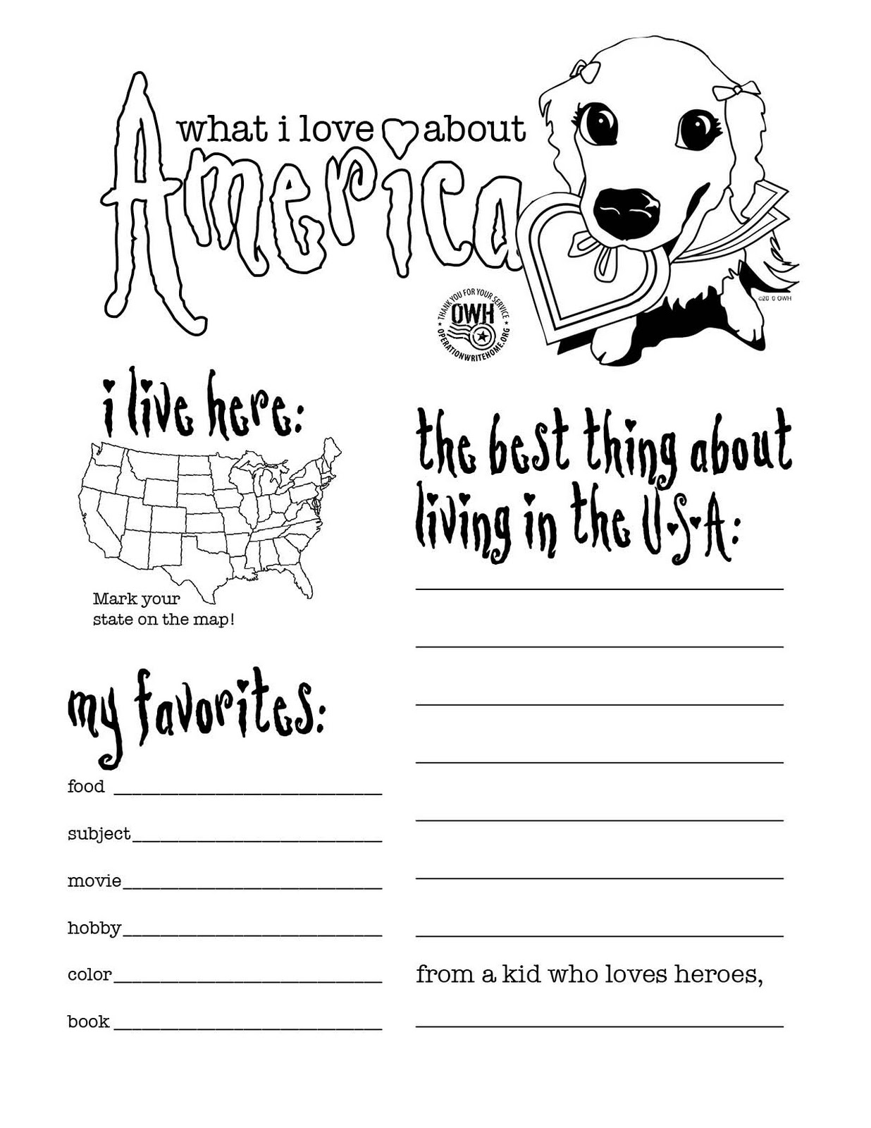 Homefront Blog: OWH Coloring pages - the whole collection!