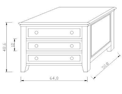 muebles de madera: Cama Super King