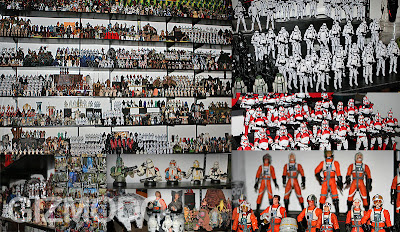 colección, figuras, starwars