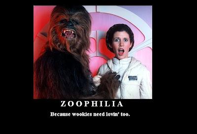 cartel desmotivador, zoofilia