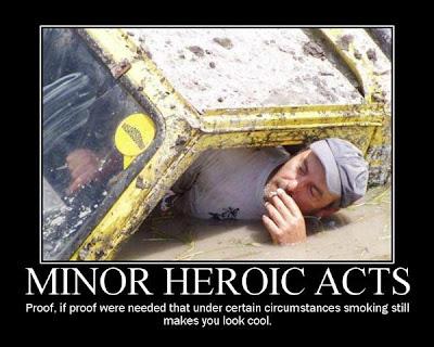 cartel, desmotivador, pequeños actos heroicos