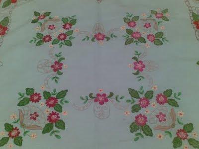 manteles pintados en tela son de los primeros trabajos que realize en