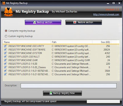 MZ Registry Backup