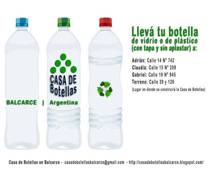 materiales y como construir una casa de botellas desechables