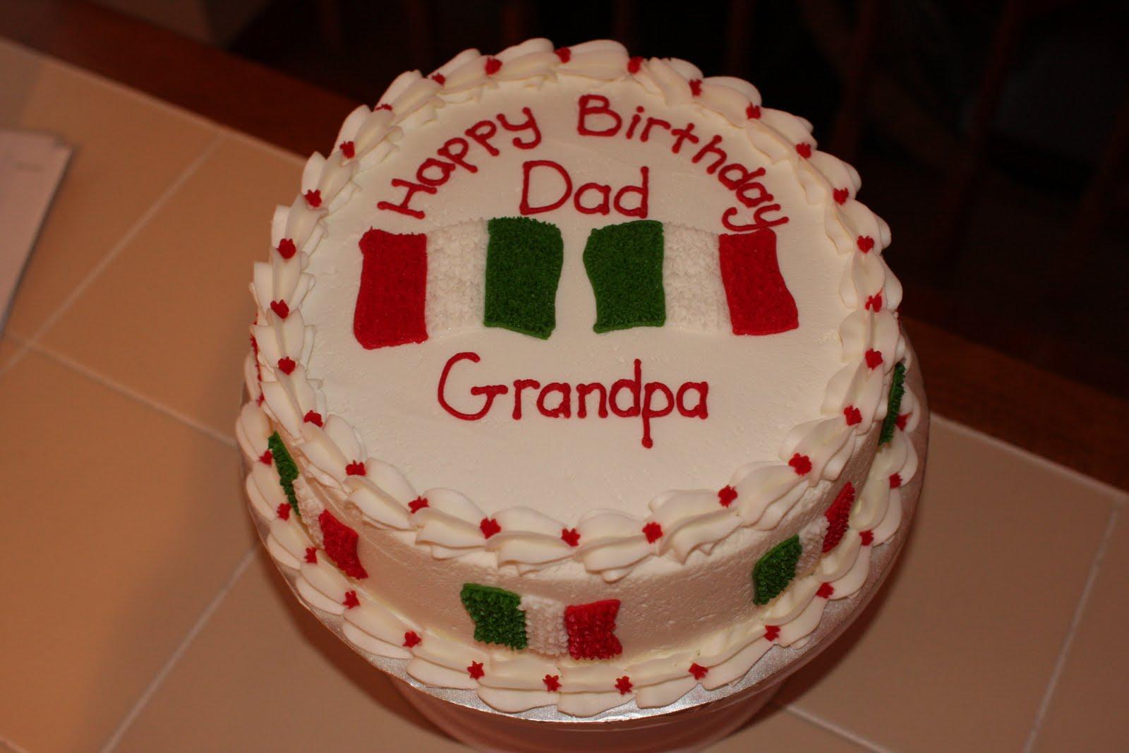 The Buttercream Bakery Italian Flag Birthday Cake