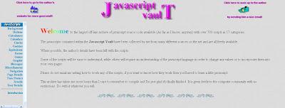 Javascript vault página inicial