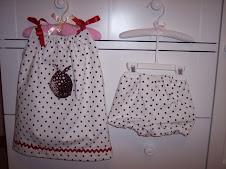 Ladybug Pillowcase Dress with Bloomers