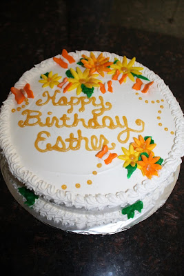 Birthday Cake Written Esther Image Inspiration of Cake and
