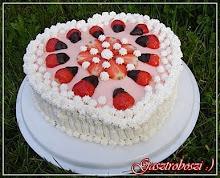 Epres születésnapi szívtorta