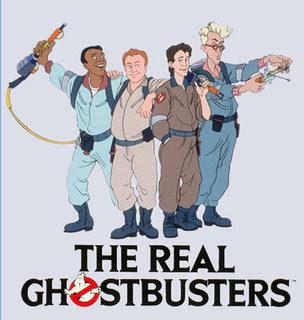 The Real Ghostbusters emplean ropas sueltas, excesivo detalle en arrugas y cabellos