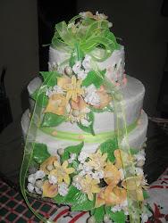Torta Bodas de Oro de tres pisos