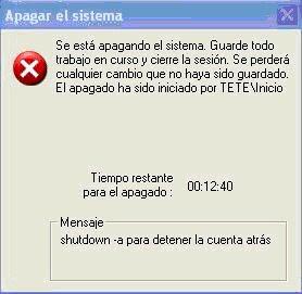 apagar o reiniciar computadora automaticamente xp