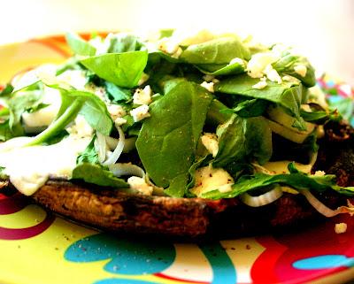 CuisineNie: Portobellos with Leeks and Spinach