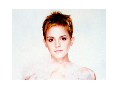emma watson short hair back. gives her edginess. shes