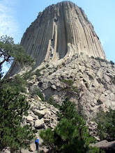 Kathie at Devils Tower