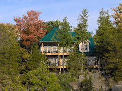 Situated on a cliff overlooking the lake