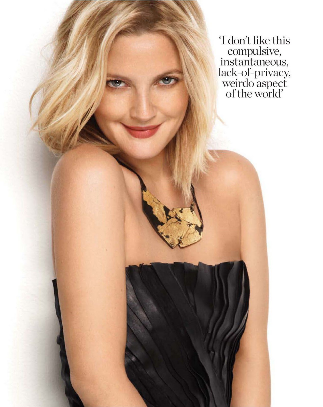 Drew Barrymore @ Marie Claire - UK, September 2010 - Fashion Mags ... Drew Barrymore